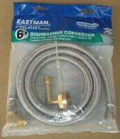 Eastman 41045 Stainless Steel Flex Universal 6' Dishwasher Hose Connector