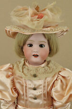 """22"""" antique MB Morimura Brothers Japan bisque head Dolly Face Doll"""