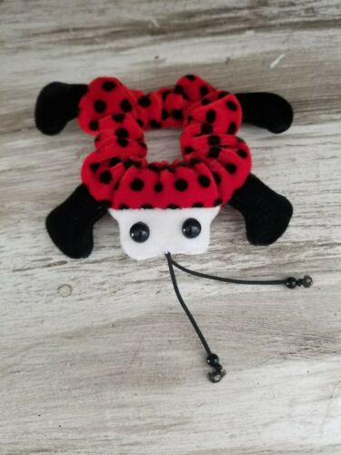 CUTE Vintage Red & Black Ladybug Hair Scrunchie St