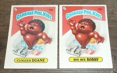 Clogged Duane #59a Garbage Pail Kids Series 2 Topps 1985 Trading Card Sticker
