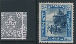 JAMAICA-1921-2-5d-deep-blue-and-blue-wmk-script-CA-unused-no-gum-cat-7
