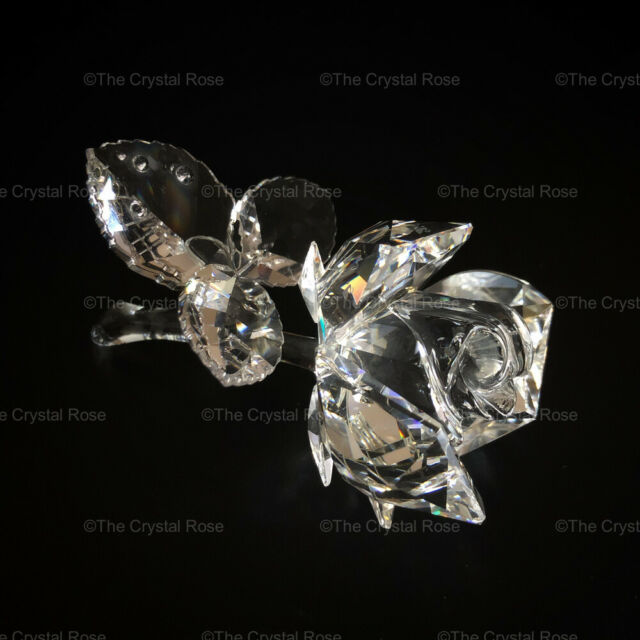 RARE Retired Swarovski Crystal Clear Rose 174956 Mint Boxed