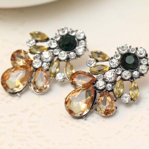 Exquisite New Design Women Gorgeous Bib Statement s/&w Crystal Long Boucles D/'oreilles e312