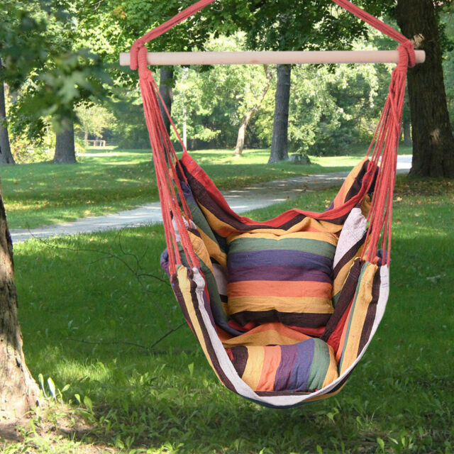 Large Brazilian Cotton Hanging Hammock Chair Quality Weave For Indoor Outdoor For Sale Online Ebay