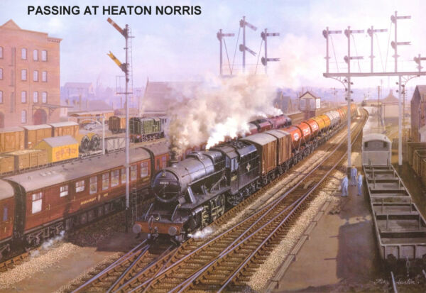 Discret Hornby Dublo-railway Art Passing At Heaton Norris No.7 J. Austin Signed/numbered Vente De Fin D'AnnéE