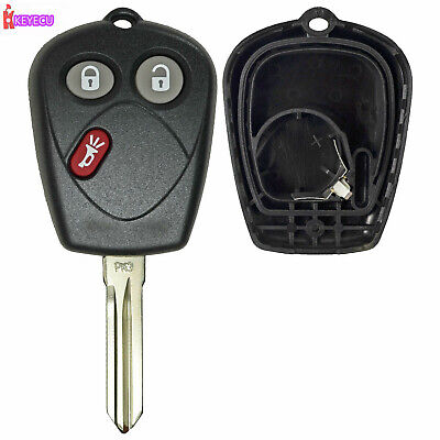 Keyecu Uncut Replacement Remote Key Shell Case Fob 3 Button for SAAB 9-7X 9-7