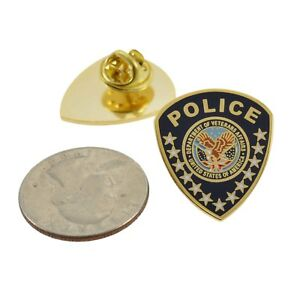 Va Department Of Veterans Affairs Police Patch Lapel Pin Federal