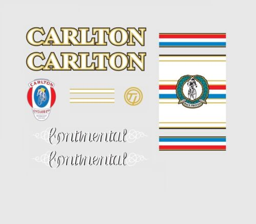 Carlton Continental Bicycle Decals Transfers Stickers n.5