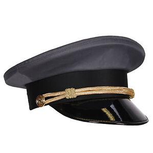 Chauffeur-Muetze-grau-mit-Kordel-amp-Lackschirm-Gr-57-59-oder-61-Schirmmuetze