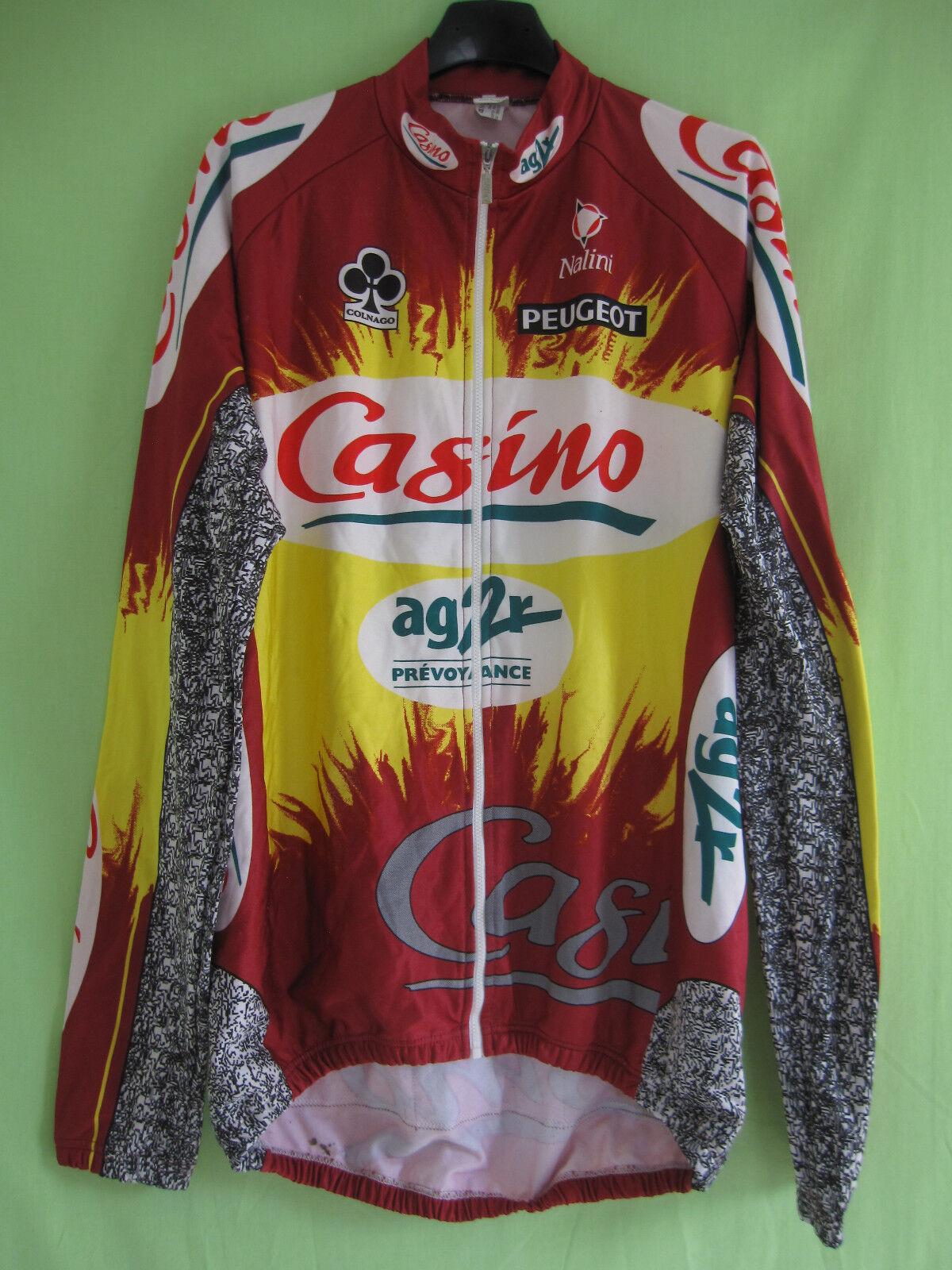 Veste cycliste Casino Ag2r Peugeot vintage Nalini Manche Longue - 6   XXL
