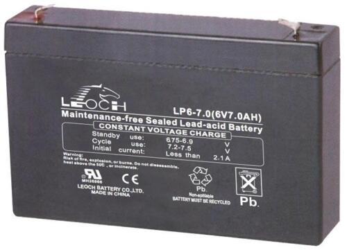BATTERY LEAD ACID AGM 6V 7AH Batteries Rechargeable