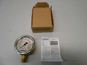 Details about ENERPAC G2535L HYDRAULIC PRESSURE GAUGE GLYCERINE FILLED  0-10,000PSI 1/4