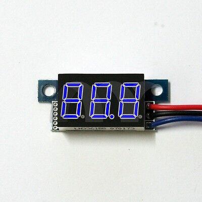 """Digital Voltmeter DC 0-100V Blue 0.36"""" LED 3 Digit Digital Panel Voltage Meter"""