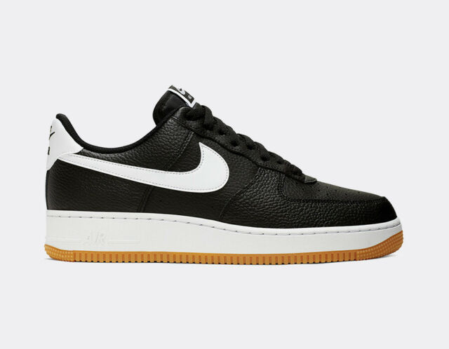 e619980660 Nike Air Force 1 '07 One Low LV8 Black and White Gum Brown Sole CI0057-002  Size