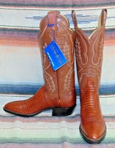 cb806e9a474 Details about Vintage Panhandle Slim Brown Lizard / Leather Cowboy Boots  Womens 4.5 B New NIB