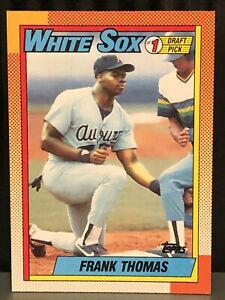 1990-Topps-Frank-Thomas-Baseball-Card-Chicago-White-Sox-414-MLB-Rookie-RC-Mint
