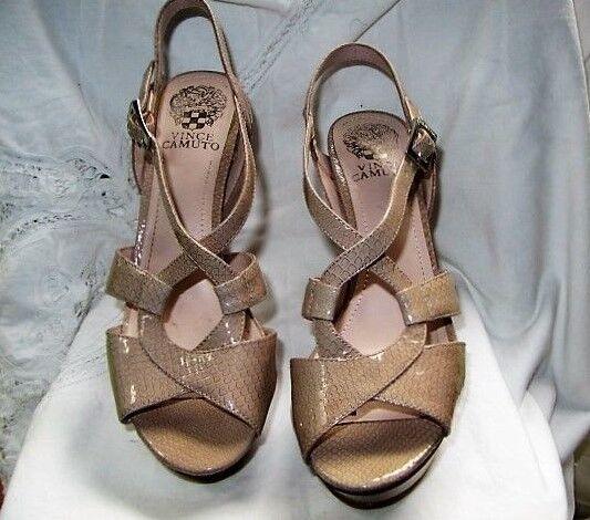 #$TUNNINGCAMUTO Beige Vince Camuto opentoe heels Size 7 1/2 US 37.5 LKN