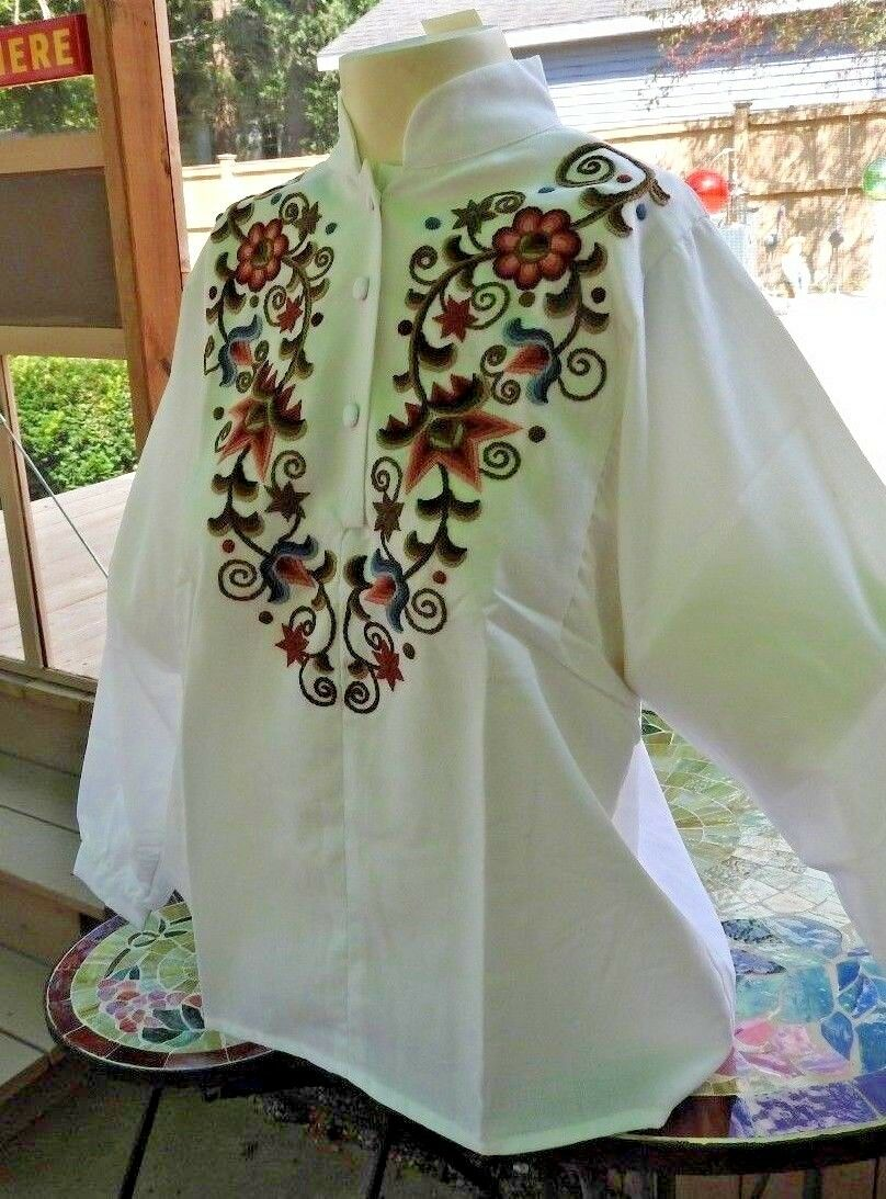 Vintage 80's Blouse Embroidery Hungarian Traditio… - image 6