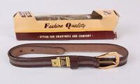 Vintage Dressy Belt Set, In Package, 1960s, Size 26, Cowhide, Child