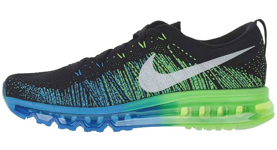 NIKE FLYKNIT MAX PHOTO blueE ELECTRIC GREEN Gr.40,5 US 7,5 air 620469-002 ld-zero