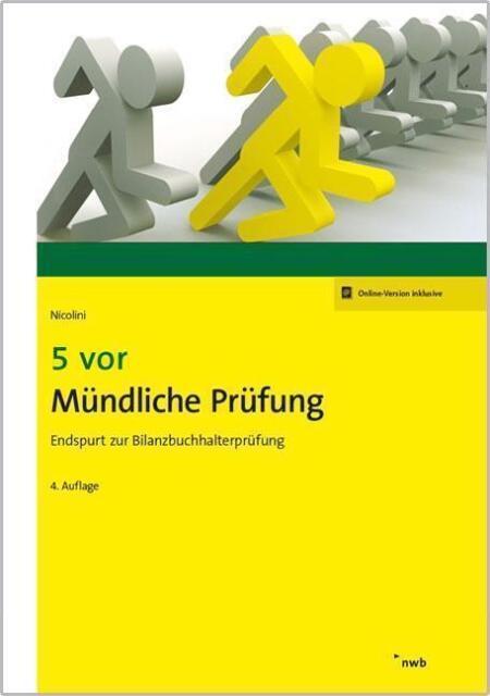 5 vor Mündliche Prüfung von Hans J. Nicolini (2016, 4. Auflage), Zustand: wieNEU
