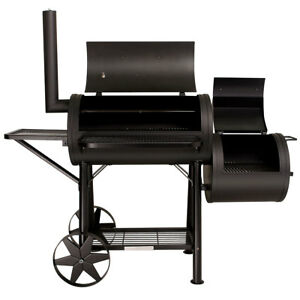 Taino-Yuma-massiccio-SMOKER-BBQ-carrello-CARBONE-GRILL-circa-90kg-3-5mm-ACCIAIO