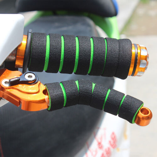 4PCS Motorcycle Bicycle HandleBar Grip+Brake Clutch Lever Soft Sponge Cover Set