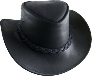 Image is loading Cowboy-Hat-Johnny-Cash-Australian-Trapper-Leather-Country- 00dcaac0c32