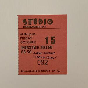 Lene-Lovich-Hammersmith-Studio-Oct-15-1978-Concert-Ticket-Stub