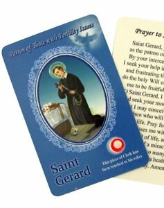 Laminated-Healing-Saint-Gerard-Holy-Prayer-Card-with-3rd-Class-Relic-3-3-8-Inch