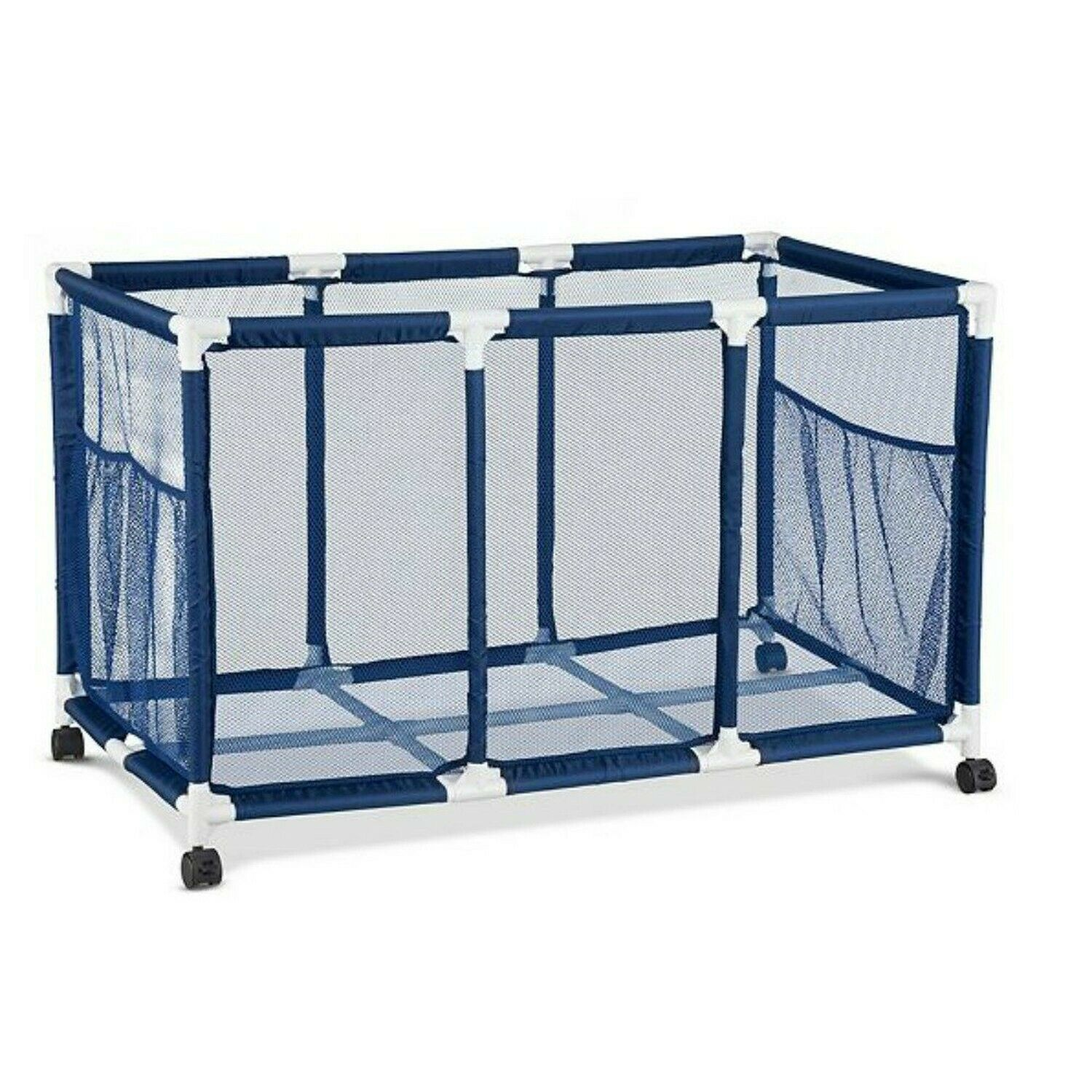 Easier Height For Kids Reach Rolling Pool Toy Storage Cart Bin 42 Inch Width X 26 Inch Height Toy Bags Nets Toys Games