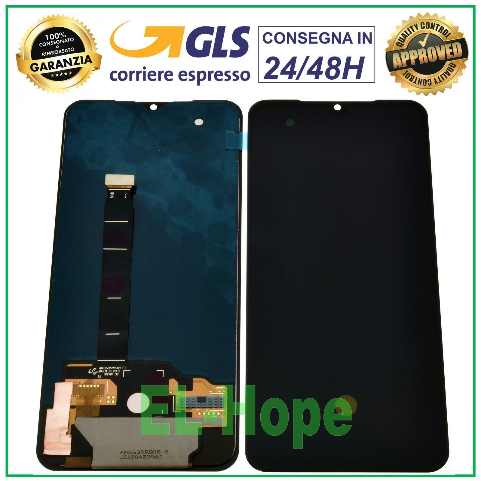 xiaomi: DISPLAY LCD XIAOMI MI 9 M1902F1G TOUCH SCREEN SCHERMO OLED ASSEMBLATO VETRO NERO