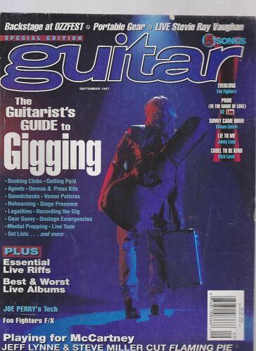 SEPT 1997 GUITAR vintage music magazine GUIDE TO GIGGING OZZFEST STEVIE RAY