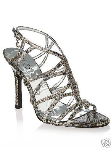 GUESS Escarpins Chaussures Sandales Argente Neuve 37.5
