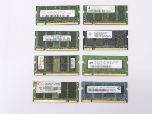 2X 1GB DDR2 Memory PC2-5300S 667MHZ 200 PIN for MacBook PC Laptop