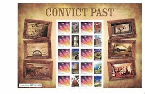 2011 Australia, Convict Past SG 3457 in sheetlet of 10, , joint issue with RAM