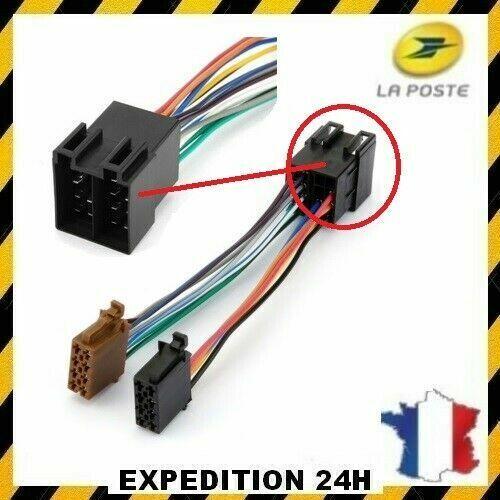 FAISCEAU CABLE AUTORADIO ISO POUR PEUGEOT 106 206 306 307 405 406 607 GZ®