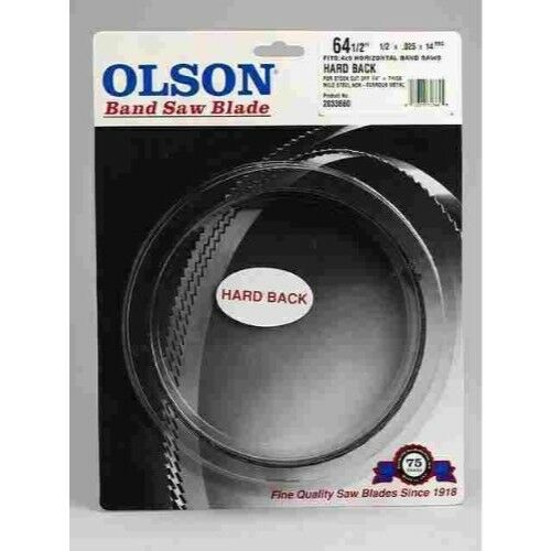 "Olson Saw Band Saw Blade 1//2x1//2x.025/""h 14 WAVY 64-1//2/"""