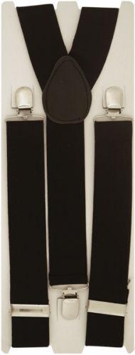 Black Men Ladies Heavy Duty Adjustable Suspended Elastic Wide Trouser Braces