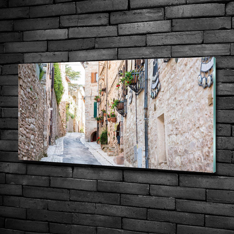 Vetro-Immagine Parete immagini Stampa su vetro 100x50 Decorazione paesaggi città vicolo