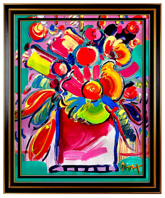 Robert Kulicke Gouache Painting Original Signed Vase Of Flowers