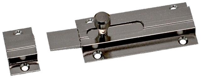 Imof catenacciolo orizzontale ottone lucido 80 mm catenaccio porte porta