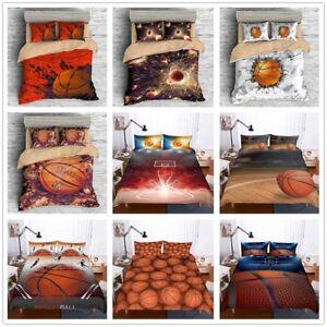 3D-Basketball-Sport-Boy-Bedding-Duvet-Cover-Pillowcase-Quilt-Comforter-Cover