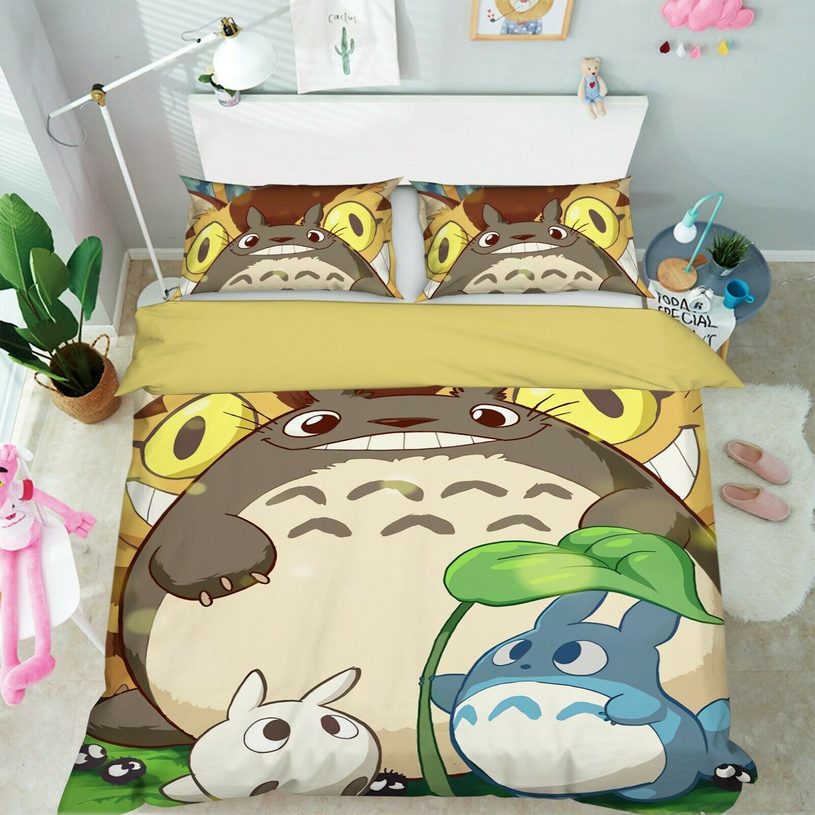 3D My Neighbor Totgold 9 Japan Anime Bed Pillowcases Quilt Duvet Cover Set Single