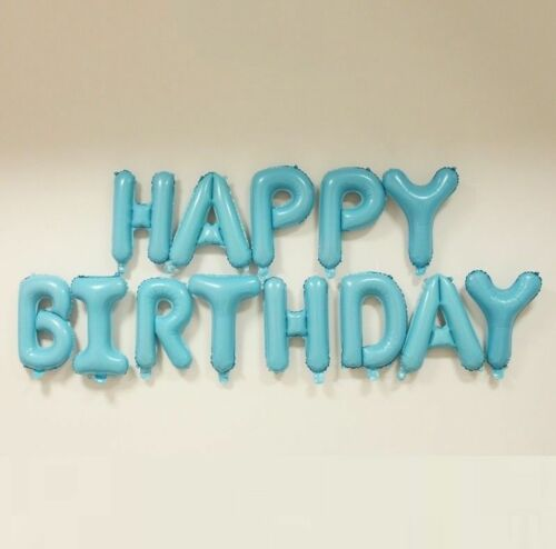 HAPPY BIRTHDAY BALLOON SELF INFLATING BALLOONS BANNER BUNTING PARTY DECORATION