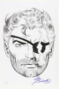 1980s-Joe-Sinnott-Nick-Fury-Pencil-Commission-Sketch-Signed-11x17-Print-JSA