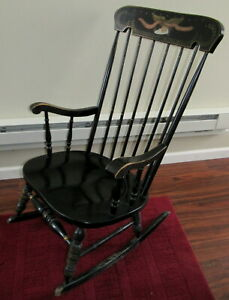Groovy Details About Old Black Rocking Chair Our Liberty Independence Pick Up In Lebanon Pa Ocoug Best Dining Table And Chair Ideas Images Ocougorg