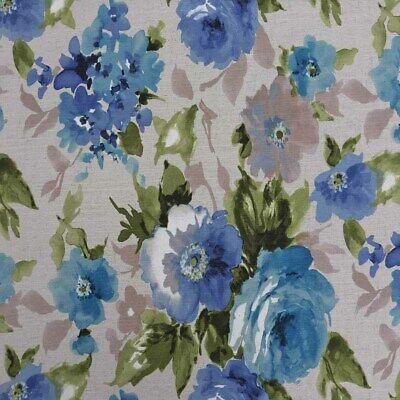 Designer Blossom Flowers BUTTERFLIES Digital Cotton Fabric Curtain Upholstery