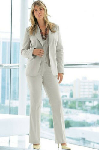 streckend Business classique fines rayures Blazer Stretch 40 beige 579860 Nouveau