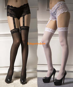 1231491a4416f Sexy Lace Panties Lingerie Garter Belt Thigh High Stocking Pantyhose ...
